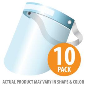 Face Shield, Plastic Disposable, 10PK